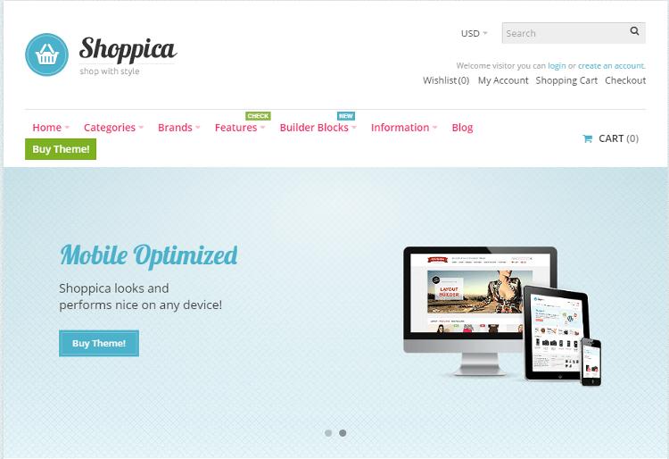 Shoppica OpenCart Theme