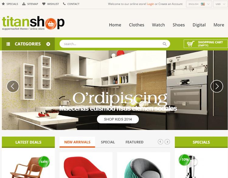 TitanShop Furniture Store PrestaShop Theme