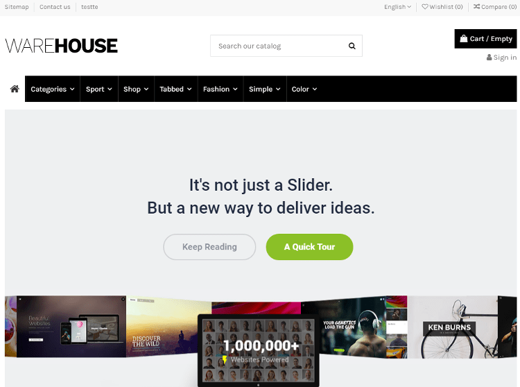 Warehouse PrestaShop Theme