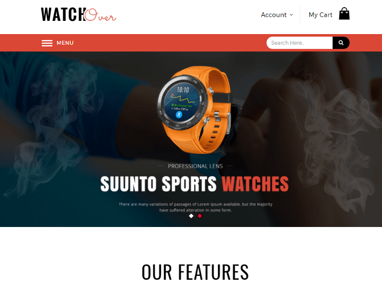 Watch Over Magento Theme
