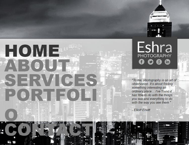 Eshra Adobe Muse Template