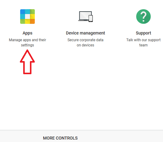 In the G Suite Admin console, click on Apps