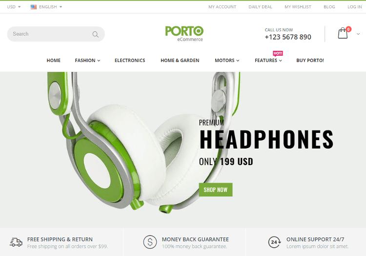 Porto Electronics Store Shopify Theme