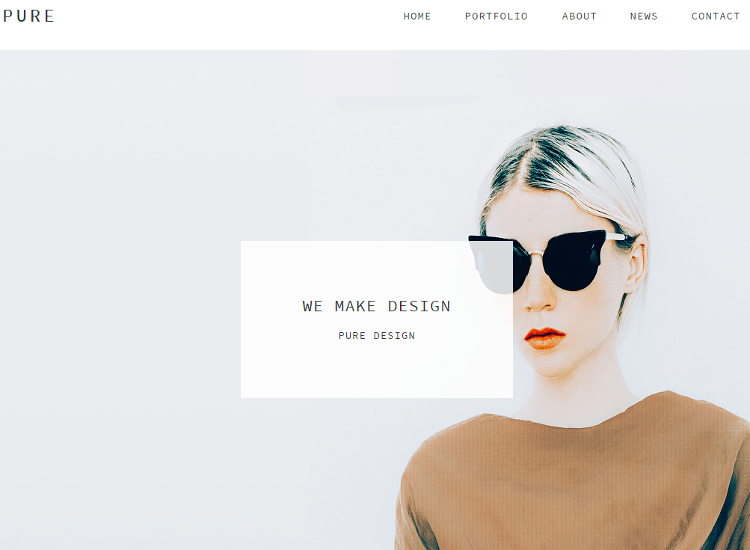 Pure Adobe Muse Template