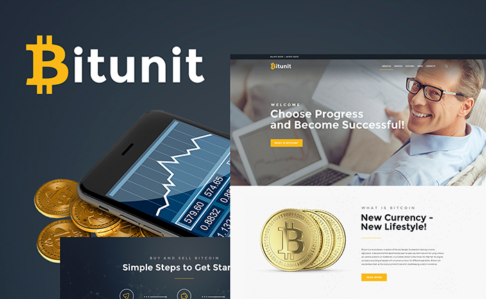 Bitcoin Lite - Cryptocurrencies Free WordPress Theme