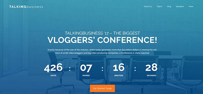 BizConf: Conference Free WordPress Site Design Theme