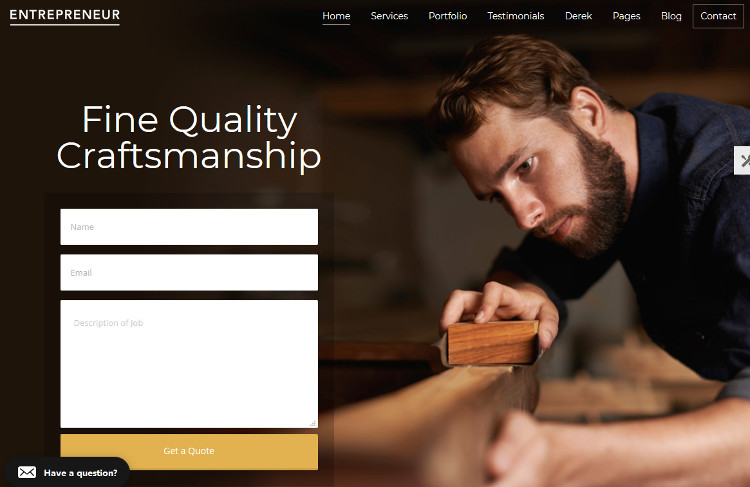 Entrepreneur WordPress Theme