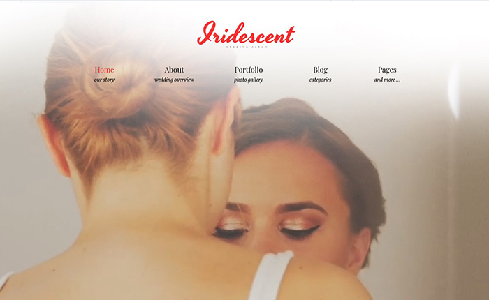 Iridescent Charming Wedding Album Lite WordPress Theme