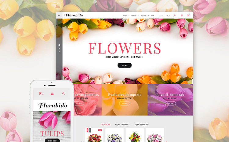 Floral - Vibrant PrestaShop Theme