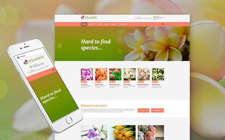 Flowers - Shining Joomla Theme
