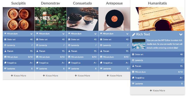 Accordion Tables WordPress Plugin