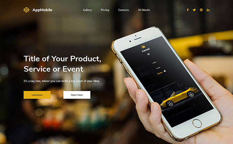 AppMobile Landing Page Template