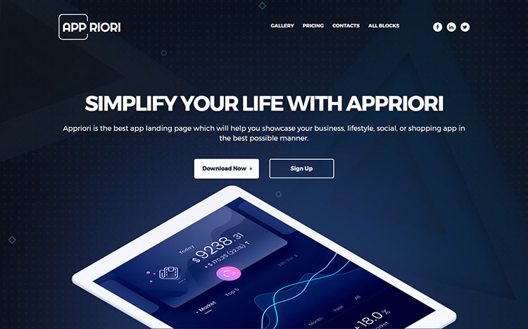 Appriori Landing Page Template