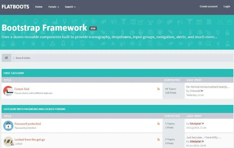 FLATBOOTS phpBB3 and phpBB 3.2 Theme