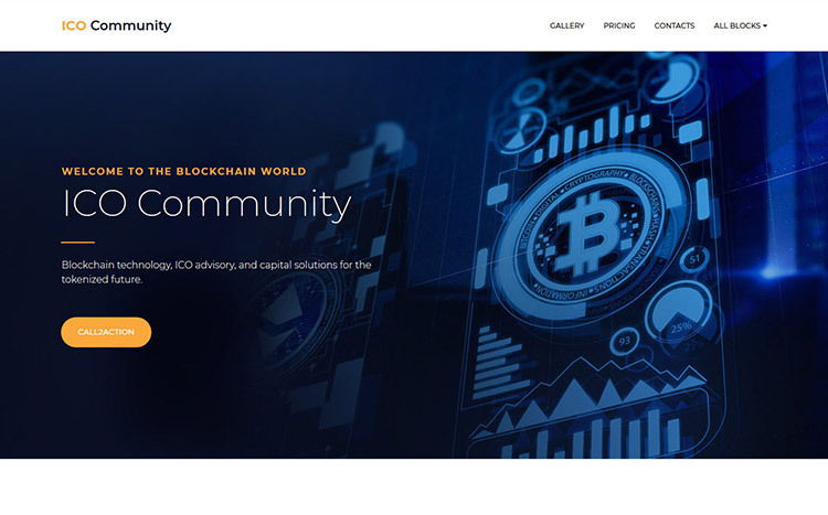 ICO Community Landing Page Template