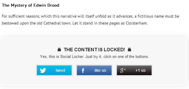 Social Locker WordPress Plugin