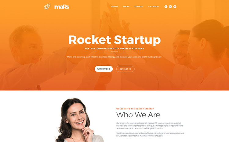 maRs Landing Page Template