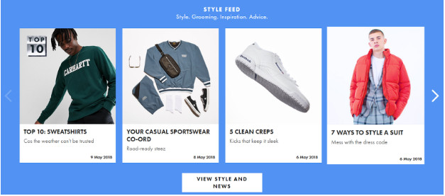 Carousels for ecommerce website