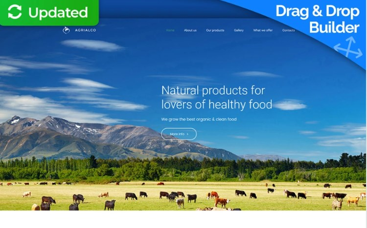 Organic Food Website Design for Farmers Market