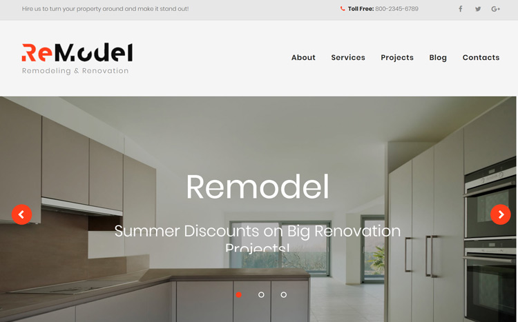 ReModel Website Template for Home Remodel Services