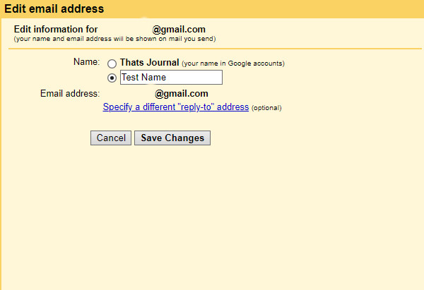 Change From Name Or Send Mail As Name In Gmail Account