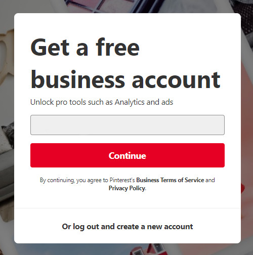 Convert personal Pinterest account to business
