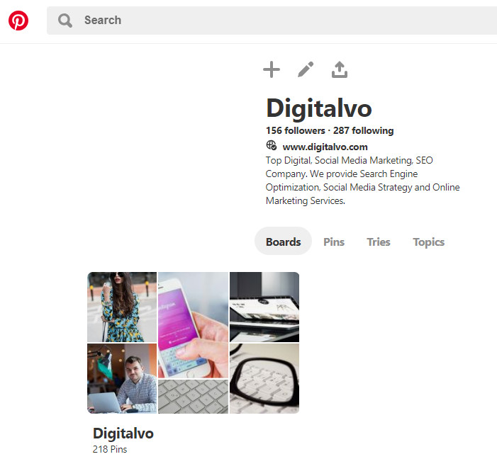 Personal Pinterest account