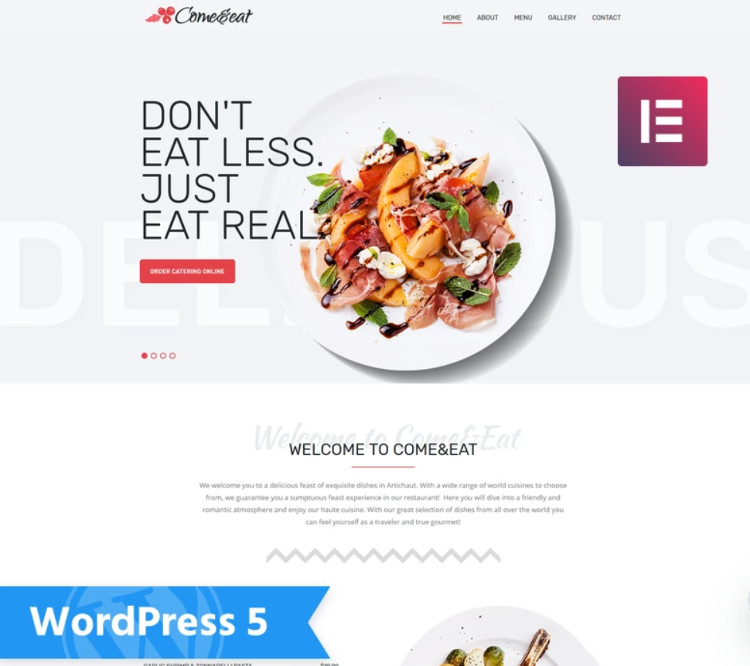 Come&Eat WordPress Theme