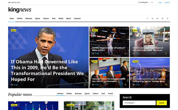 KingNews Multipurpose HTML5 template
