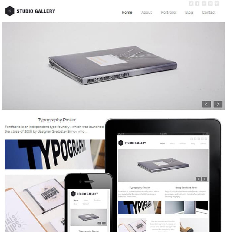 Studio Gallery WordPress Theme