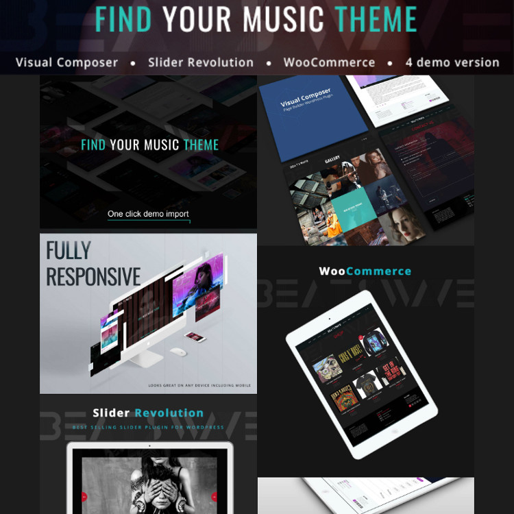 Beatswave - Creative Music WordPress Theme