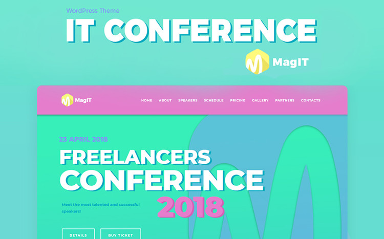 MagIT - IT Conference Elementor WordPress Theme