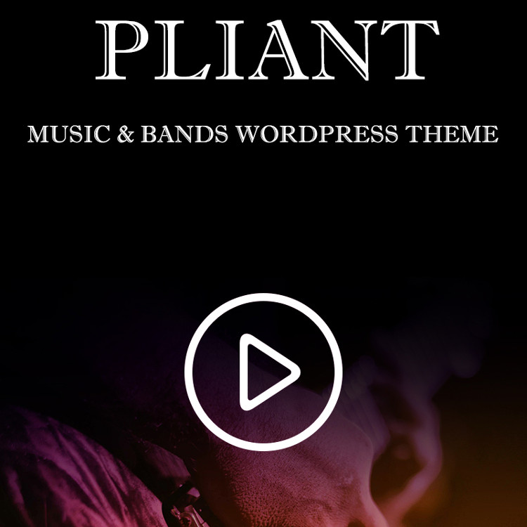Pliant Music & Bands WordPress Theme