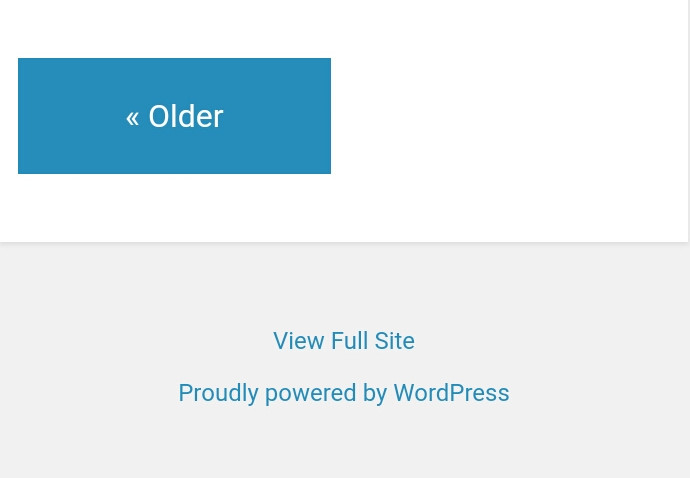 Proudly Powered by WordPress link in footer in Jetpack mobile theme