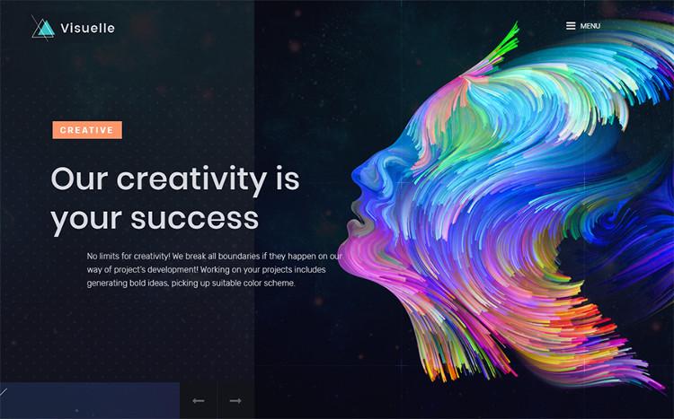 Visuelle - Creative Mondrianism Elementor WordPress Theme