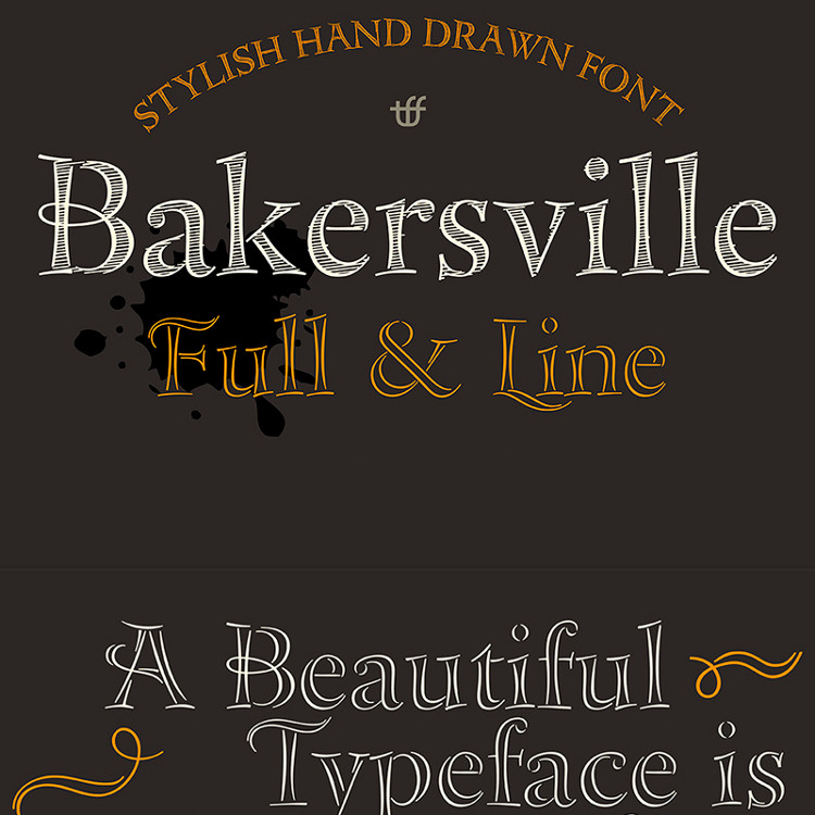 Bakersville Sketch Fonts