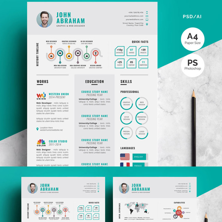 Modern-Infographic Resume Template