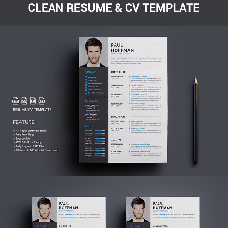 Resume CV-Paul Hoffman Resume Template