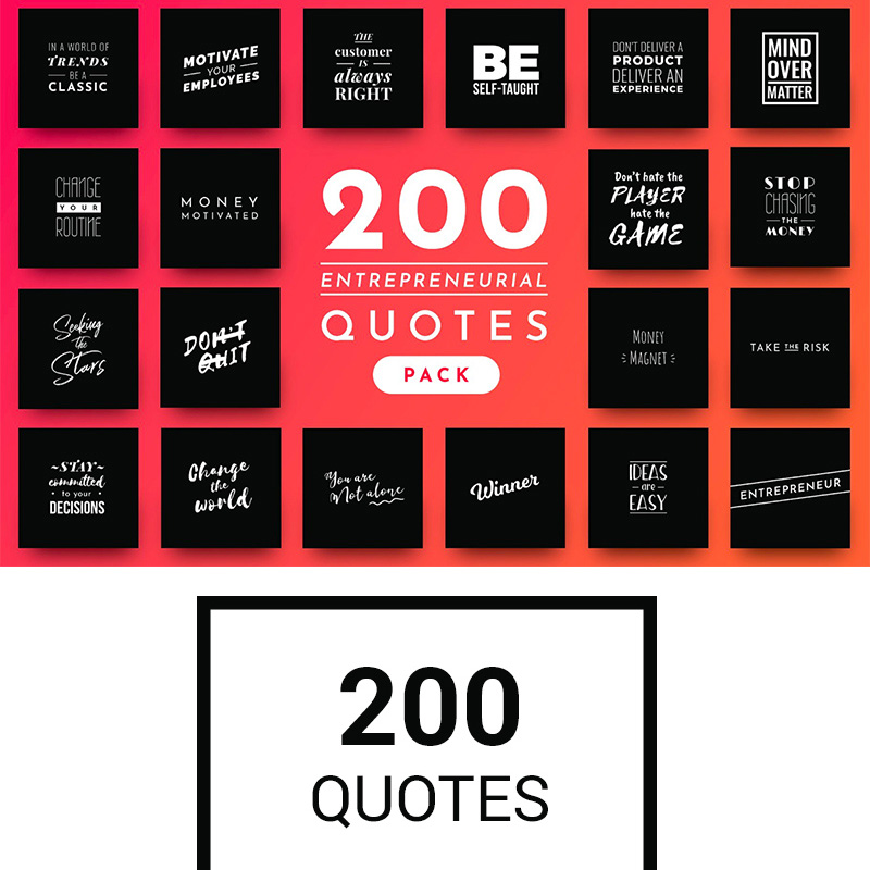 200 Ready-to-Use Entrepreneurial Quotes