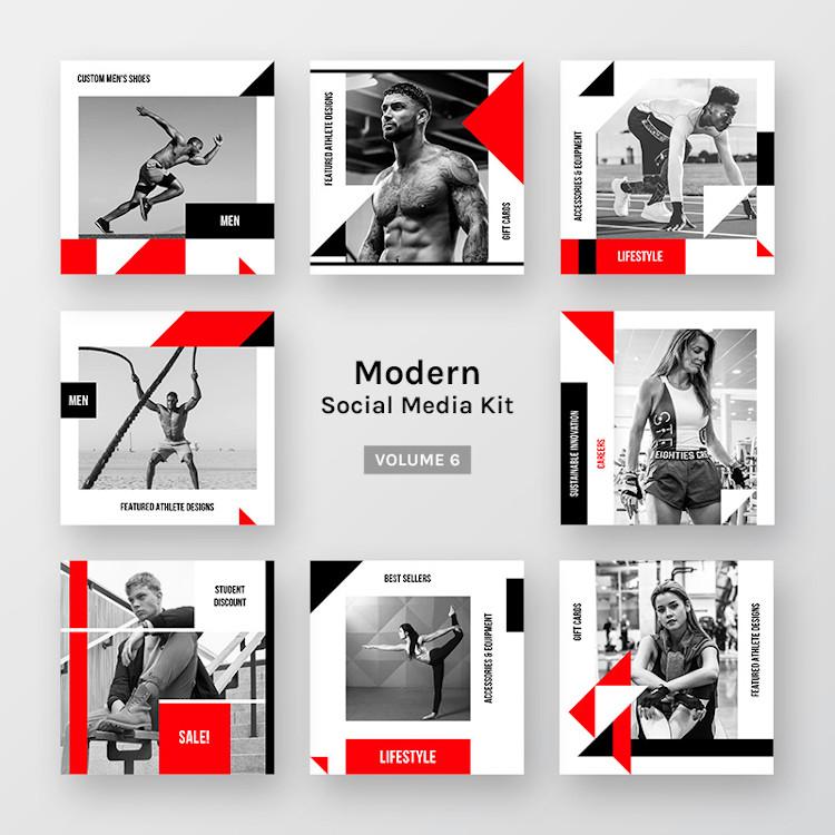 Modern Social Media Kit (Vol. 6)
