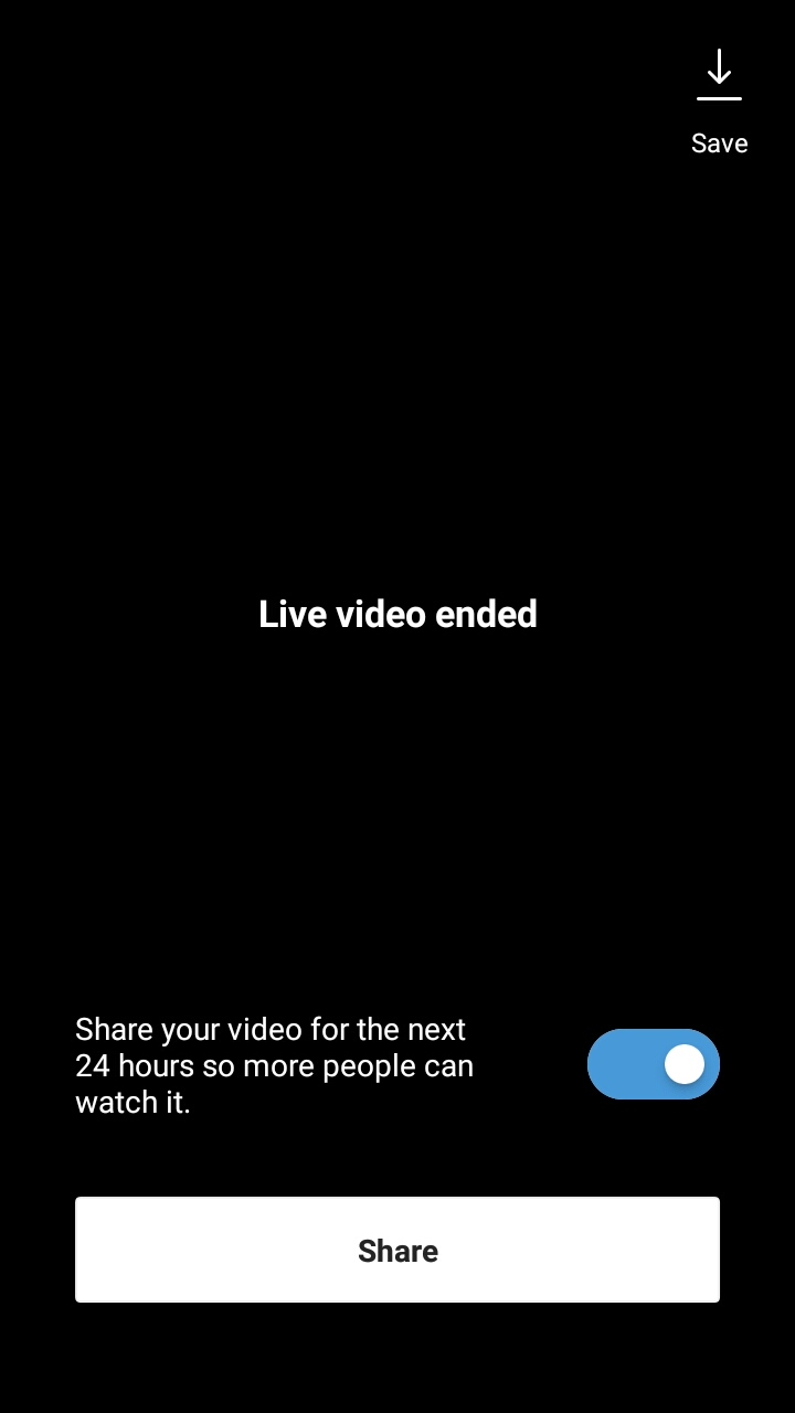 How to save a live video to your phone in Instagram