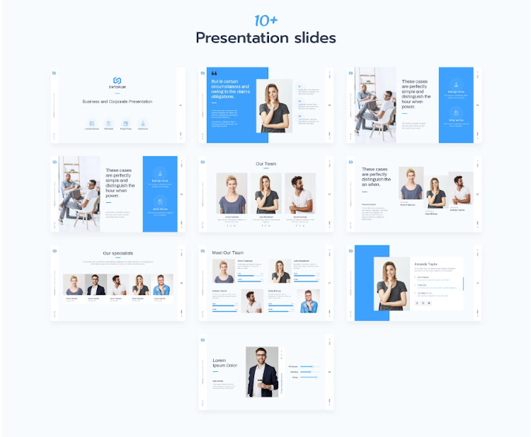 Entorum – Business PowerPoint template with customizable infographics