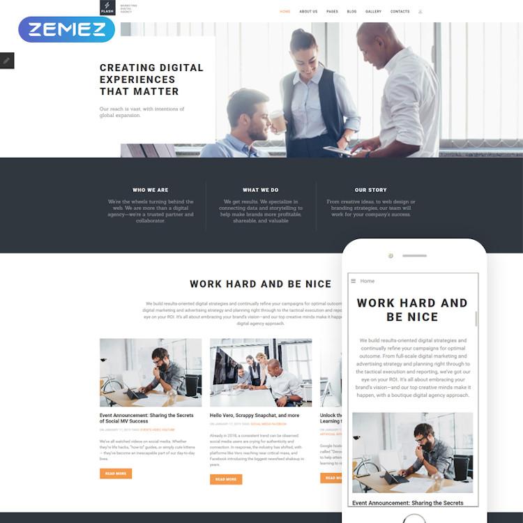 Flash - Digital Marketing Agency Joomla Theme