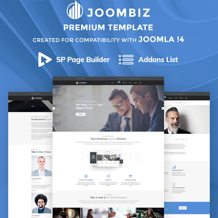 JoomBiz - Joomla 4 Business Theme