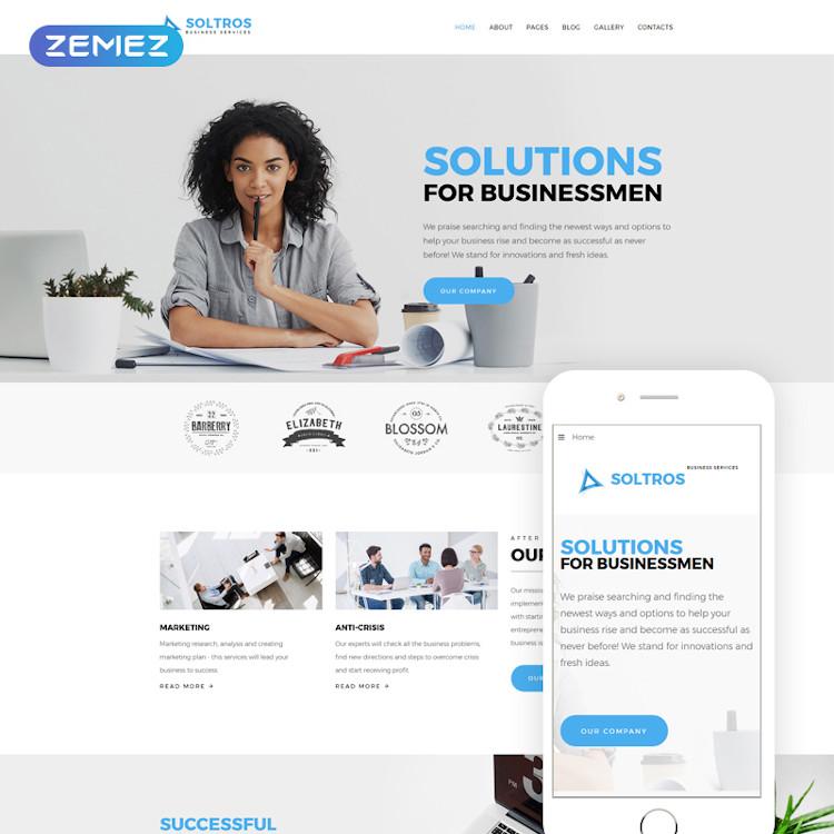 Soltros - Business Services Joomla Design