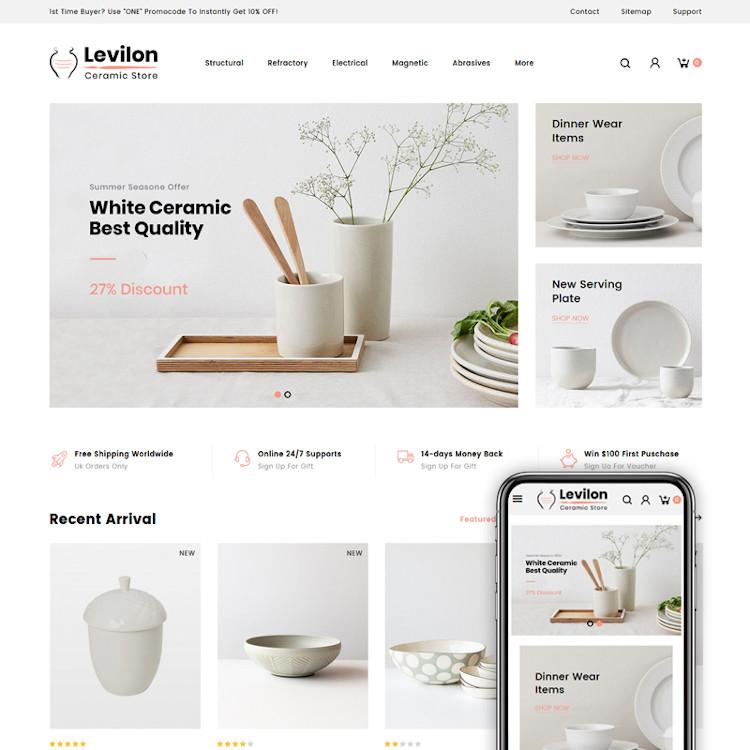 Levilon - Ceramic Store PrestaShop Theme