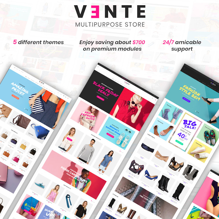 Vente - Multipurpose PrestaShop Theme