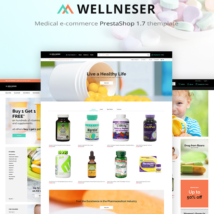 Wellneser - Medical Store PrestaShop Theme