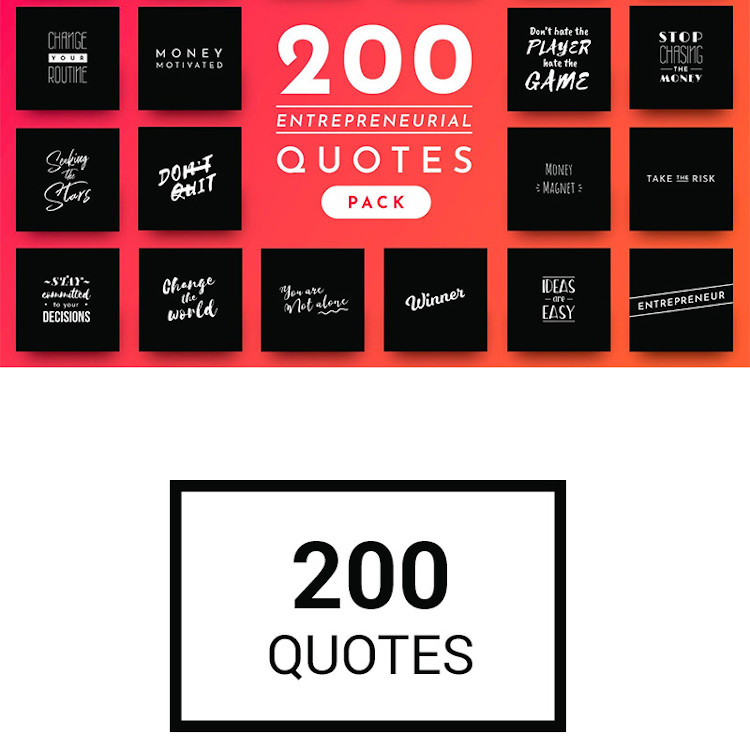 200 entrepreneurial quotes Images pack