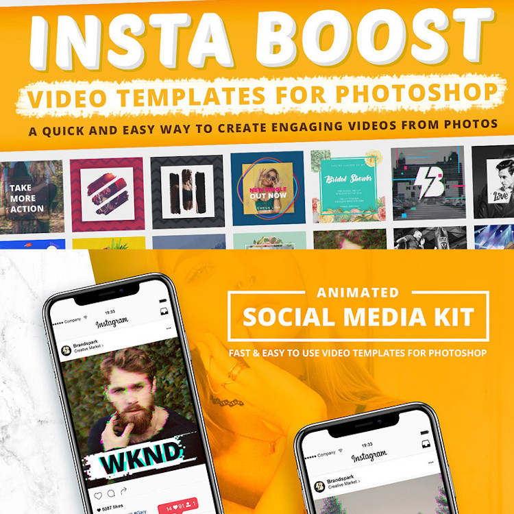 Animated Instagram video templates